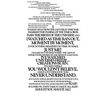 Akhaten Speech (complete, black) Photographic Print