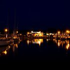 Rügen: Thiessow Harbour at Night by Kasia-D
