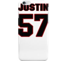 NFL Player Justin Tuggle fiftyseven 57 iPhone Case/Skin