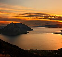 Ionian Panorama Sunset by Hercules Milas