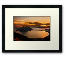 Ionian Panorama Sunset Framed Print