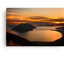 Ionian Panorama Sunset Canvas Print