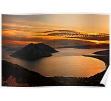 Ionian Panorama Sunset Poster