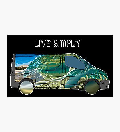 Live Simply (dark background) Photographic Print
