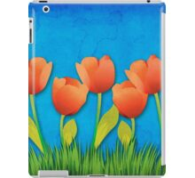 Grunge tulips iPad Case/Skin