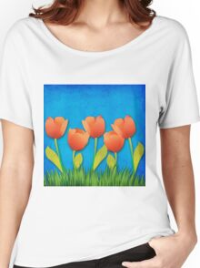 Grunge tulips Women's Relaxed Fit T-Shirt