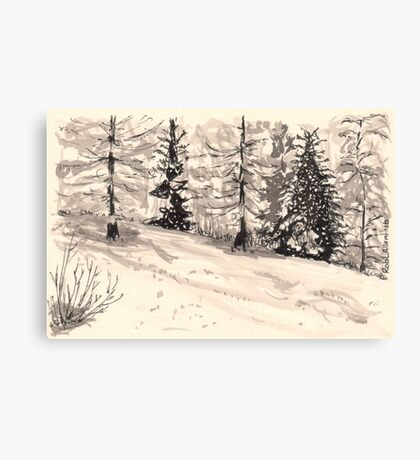 les arcs 1800 snow scene Canvas Print