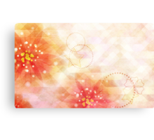 Pink flowers background 2 Canvas Print