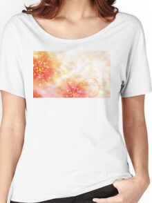 Pink flowers background 2 Women's Relaxed Fit T-Shirt