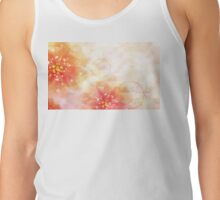Pink flowers background 2 Tank Top
