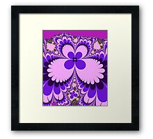 Fantasy Flower in Purple and Pink Framed Print
