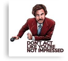 Anchorman - Don't Act Like You're Not Impressed Canvas Print