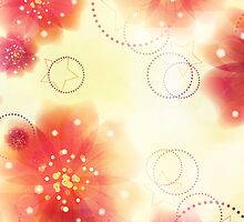 Pink flowers background 3 by AnnArtshock