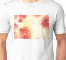 Pink flowers background 3 Unisex T-Shirt