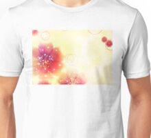 Pink flowers background 4 Unisex T-Shirt