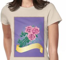Pink roses Womens Fitted T-Shirt