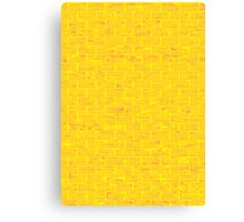 Yellow Brick Wall Canvas Print