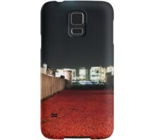 Poppies at theTower of London - At Night with the Shard. Samsung Galaxy Case/Skin