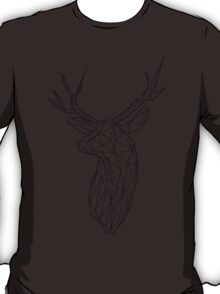 Black Wire Faceted Stag Trophy Head T-Shirt