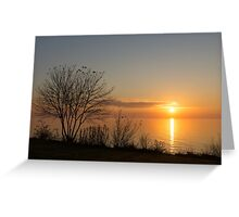 Calm, Sunny and Peaceful - a Lake Shore Daybreak Greeting Card
