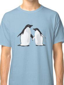 Cute Christmas Penguins Classic T-Shirt