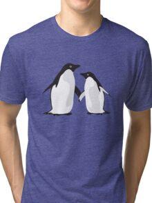 Cute Christmas Penguins Tri-blend T-Shirt