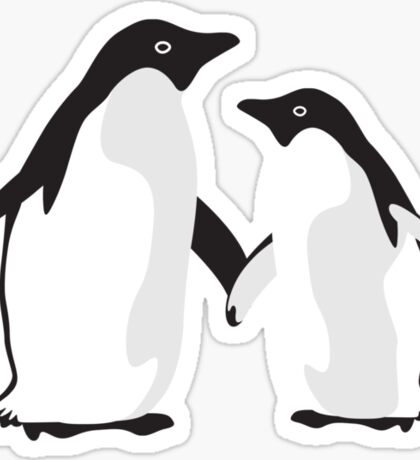 Cute Christmas Penguins Sticker