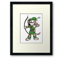 Robin des chats Framed Print