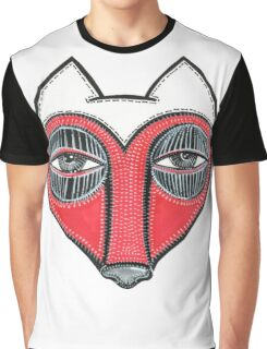 fox face heart Graphic T-Shirt