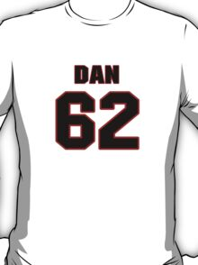 NFL Player Dan McCullers sixtytwo 62 T-Shirt