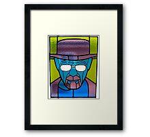 Heisenberg Stained Glass Framed Print