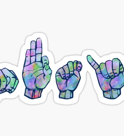 NFTY ASL stickers Sticker