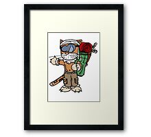 Cat : globetrotteur (chat baroudeur) Framed Print
