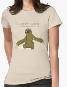 Zombie Sloth Womens Fitted T-Shirt