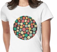 The Other Buttons... Womens Fitted T-Shirt