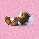 Sleeping Ted - Pink by ifourdezign