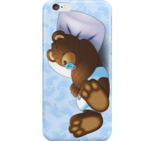 Sleeping Ted - Blue iPhone Case/Skin