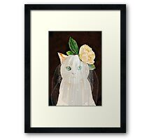 The Bride Cat Art Framed Print