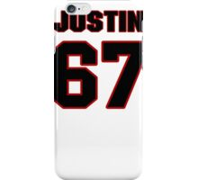 NFL Player Justin Pugh sixtyseven 67 iPhone Case/Skin