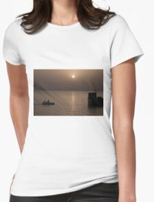 Red Sea Sunset Womens Fitted T-Shirt
