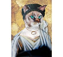 Greek Lady Cat Photographic Print