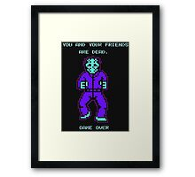 JASON FRIDAY THE 13TH 8-BIT NES Framed Print