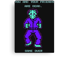 JASON FRIDAY THE 13TH 8-BIT NES Canvas Print