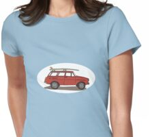 surfs up! Womens Fitted T-Shirt