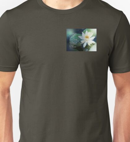 Serenity Prayer Lotus One Unisex T-Shirt