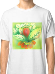 Green Healthy Living Flower Abstract Classic T-Shirt