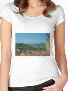 Italian Landscape Women's Fitted Scoop T-Shirt
