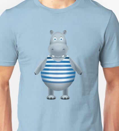 Hippo-sailor in the vest Unisex T-Shirt