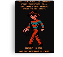 FREDDY Nightmare on Elm Street 8-bit NES Canvas Print