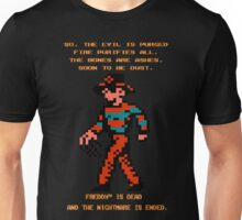 FREDDY Nightmare on Elm Street 8-bit NES Unisex T-Shirt